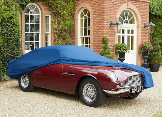 Soft Stretch Indoor Cover On Aston Martin DB6 Mk. II