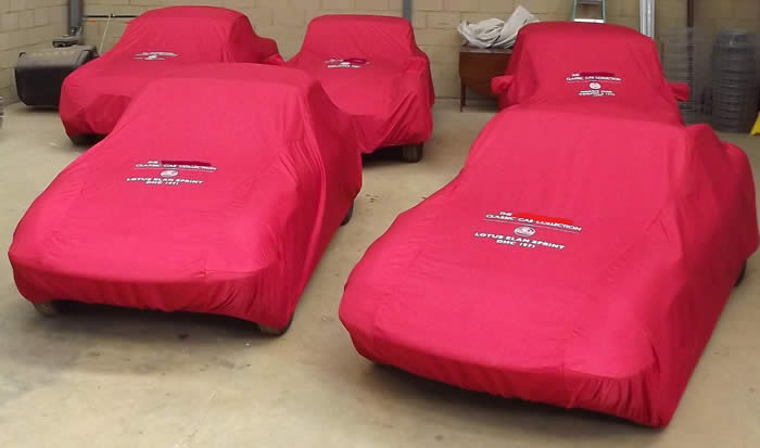 Tailored Indoor Peachskin And Waterproof Outdoor Covers From Car